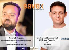 Savex Technologies Announced Distribution Partner for airSlate's signNow Solutions